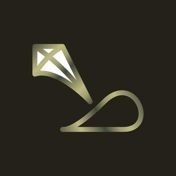 arabic alphabet logo design. emerald or gem or crystal concept in one alphabet. premium and luxury logo design