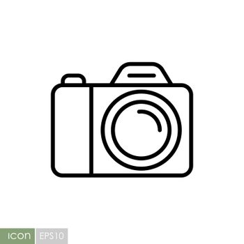 Camera vector icon. Camping sign