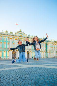 Cute girls in Sankt Petersburg in Russia