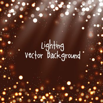 Abstract background with twinkling stars vintage and bokeh.