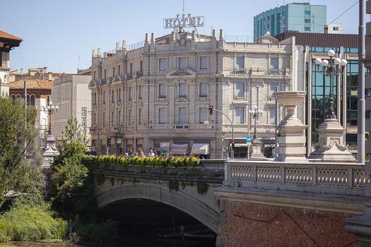PADOVA, ITALY 17 JULY 2020: Historic hotel in Padua, italy