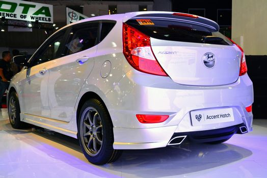 Hyundai accent hatch at Manila International Auto Show in Pasay,