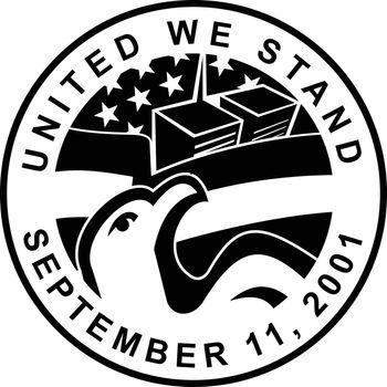 American Eagle and WTC Building 911 Commemoration Circle Retro