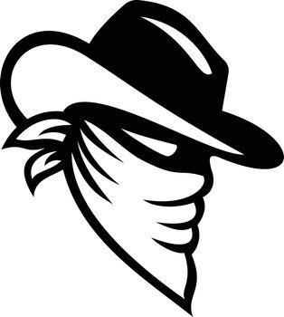 Bandit Wearing Mask Black and White