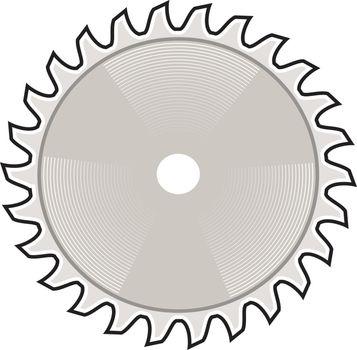 Circular Saw Blade Icon Retro