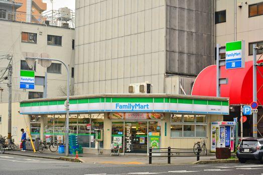 Family Mart convenience store in Osaka, Japan