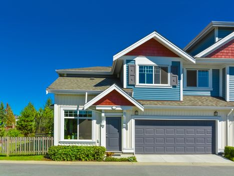 New residential townhouse in suburbs of Vancouver, Canada.