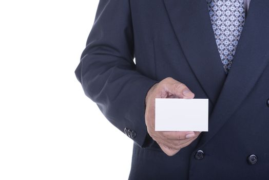 Businessman offer blank business card ,concept business