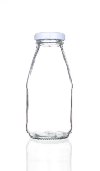 Empty bottle isolated on a white background.