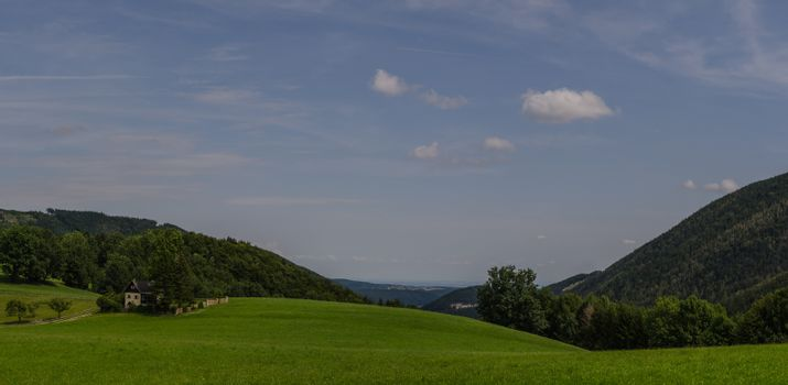 green hills landscape panorama view