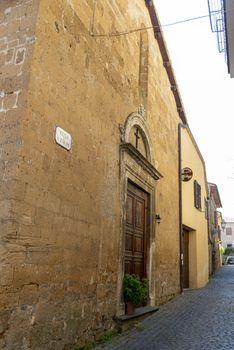 church of santo stefano in the center of orvieto