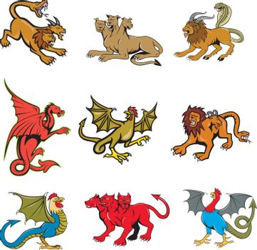 Mythical Creature Mascot Set