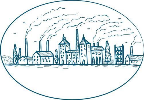 Industrial Revolution Landscape Drawing