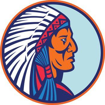 Cheyenne Chief Head Mascot