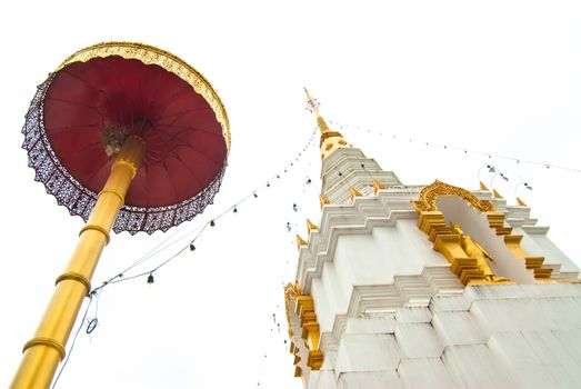 Pagoda in Thai Buddhism temple, Chiang Mai