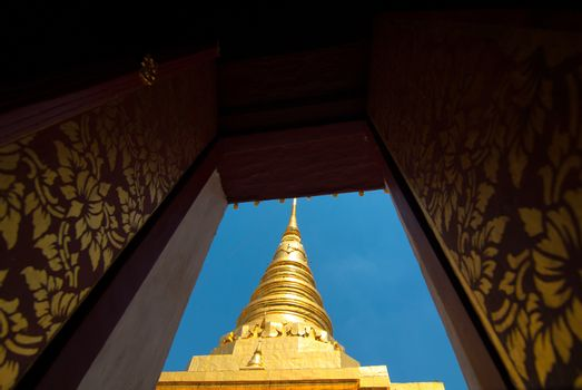 Pagoda in Thai Buddhism temple