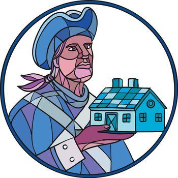 American Patriot House Mosaic Color