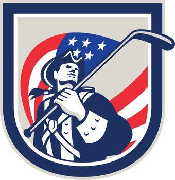 American Patriot Ice Hockey Shield
