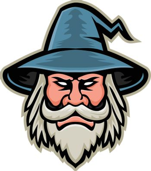 Wizard Head Mascot