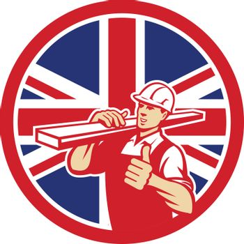British Lumber Yard Worker Union Jack Flag Icon