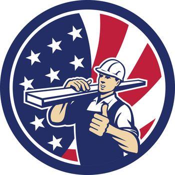American Lumber Yard Worker USA Flag icon