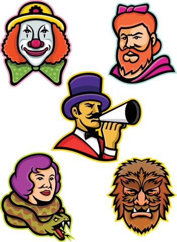 Circus Performers and Freaks Mascot Collection