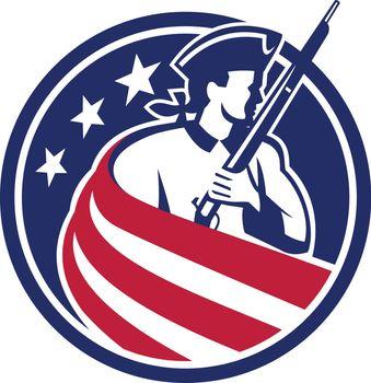 American Patriot USA Flag Icon