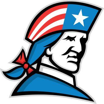 American Patriot Head USA Flag Mascot