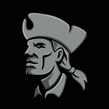 Patriot Head Metallic Icon