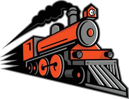 Steam Locomotive Speeding Mascot