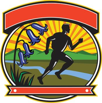 Trail Runner Bluebells Oval Icon