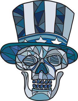Uncle Sam Skull Mosaic