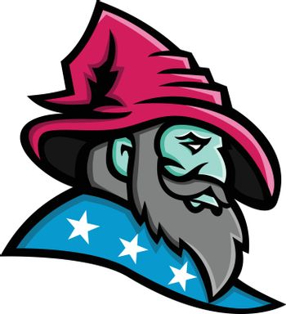Wizard With Stars Mascot