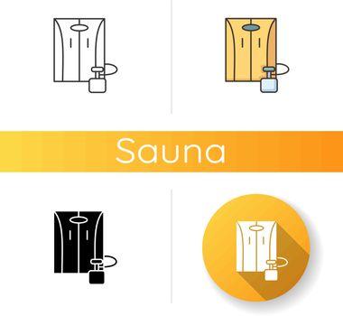 Portable home sauna icon
