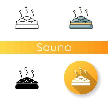 Dry heat sauna icon