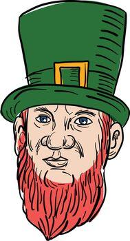 Irish Leprechaun Wearing Top Hat Drawing