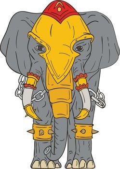 War Elephant Drawing