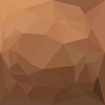 Low polygon style illustration of a burlywood goldenrod abstract geometric background.