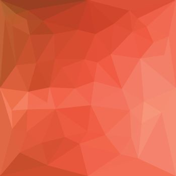 Light Salmon Abstract Low Polygon Background
