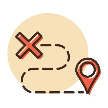 Route vector icon. Navigation sign