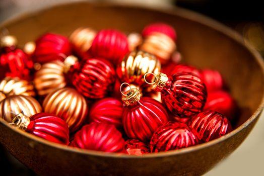 Christmas balls at a christmas market