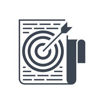 Target Keywords Vector Glyph Icon