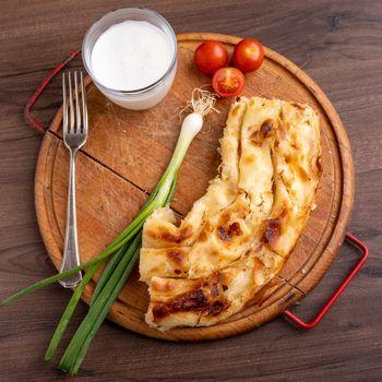 Traditional balkan meal - Burek or Borek pie with cheese