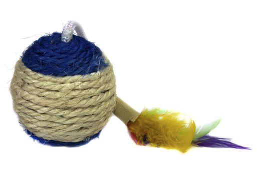 round toy with fluffy tail for animals