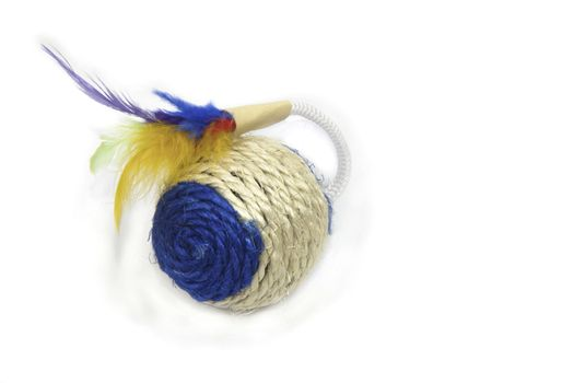 for kittens toy with feathers in the form of a ball