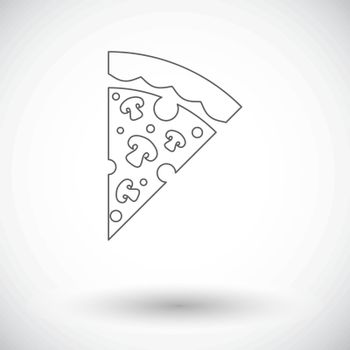 Pizza. Single flat icon on white background. Vector illustration.