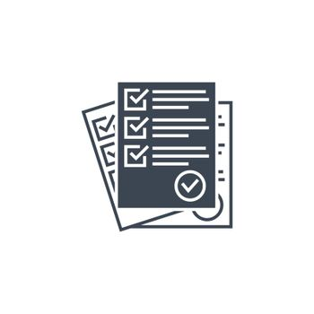 Questionnaire related vector glyph icon.