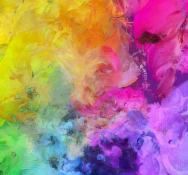 Bright Colorful Abstract Painting. 3D rendering