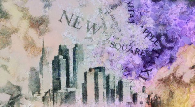 Modern art. New York, Manhattan.