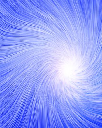 Blue Abstract Vortex of Light. 3D rendering